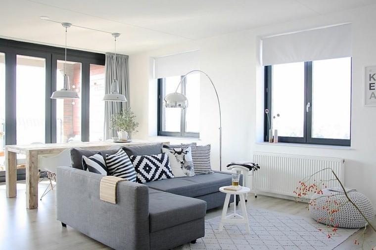 idées salon meuble scandinave canape angulaire