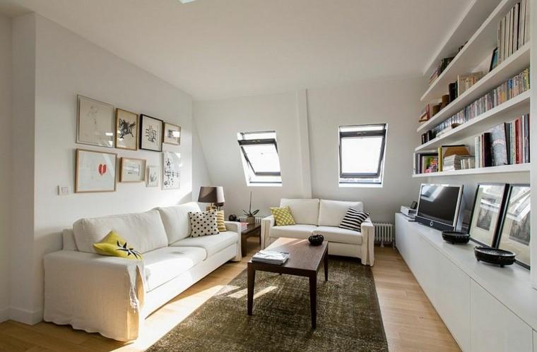 idee design salon blanc meubles scandinaves