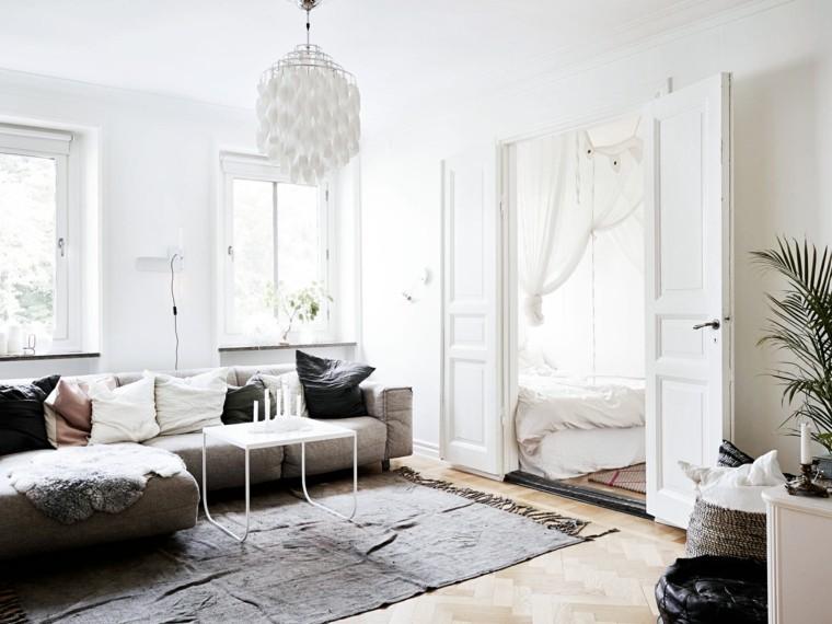 aménagement intérieur salon scandinave meubles petits espaces