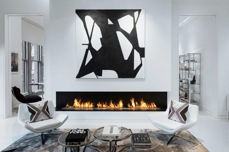 idee salon déco scandinave meuble monochrome