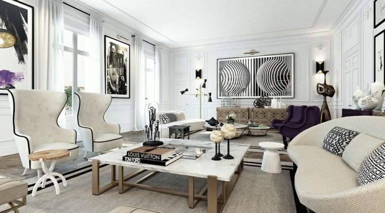 idée salon design scandinave mobilier blanc noir déco intérieur
