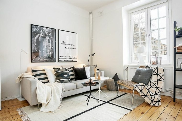 idee décoration salon style scandinave petits appartements