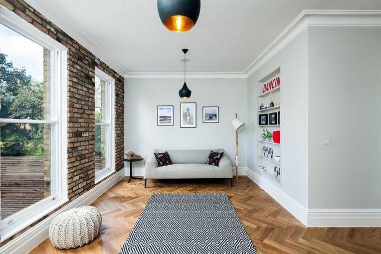 idée déco salon style nordique tapis scandinave