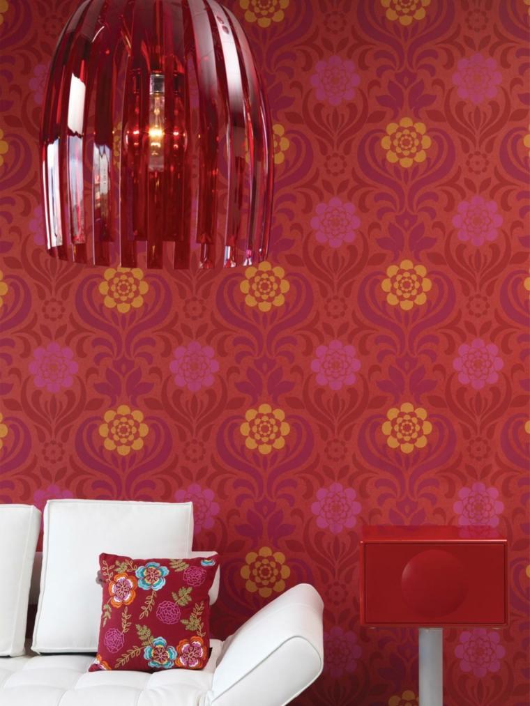 papier peint salon vintage deco interieur