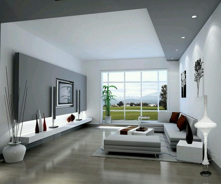 design d'intérieur salon moderne TV meuble idée décoration