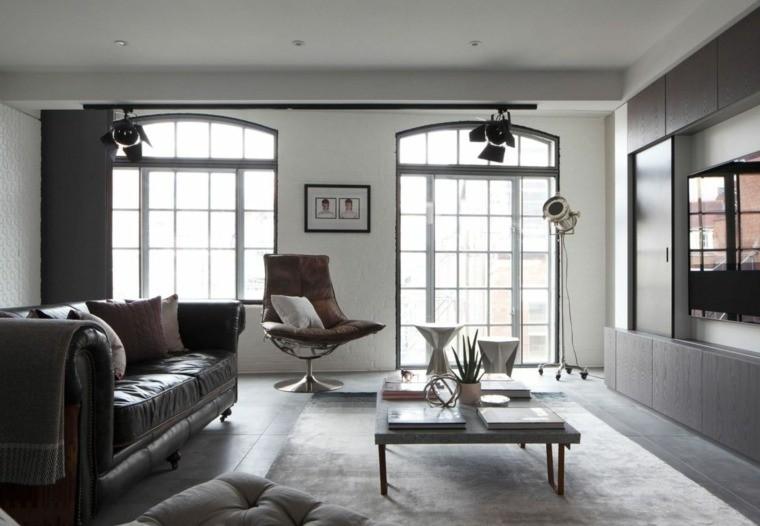salon moderne gris couleurs meubles