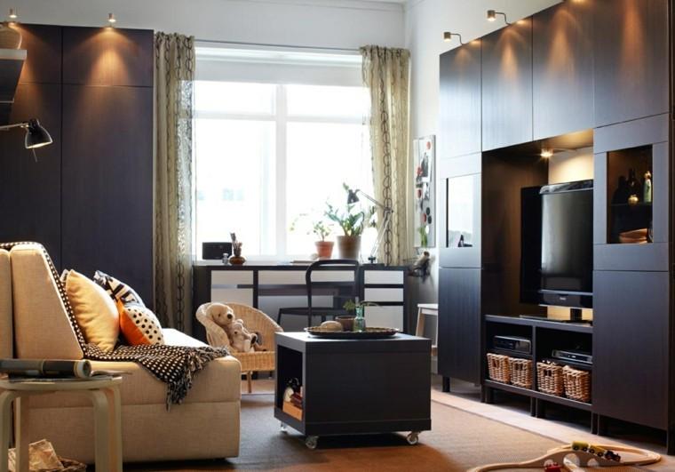 couleurs salles de séjour contemporaines