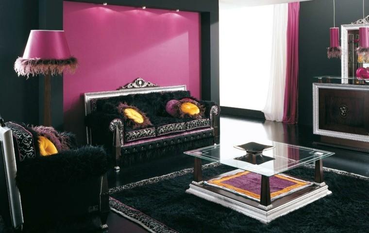 couleur peinture salons noirs