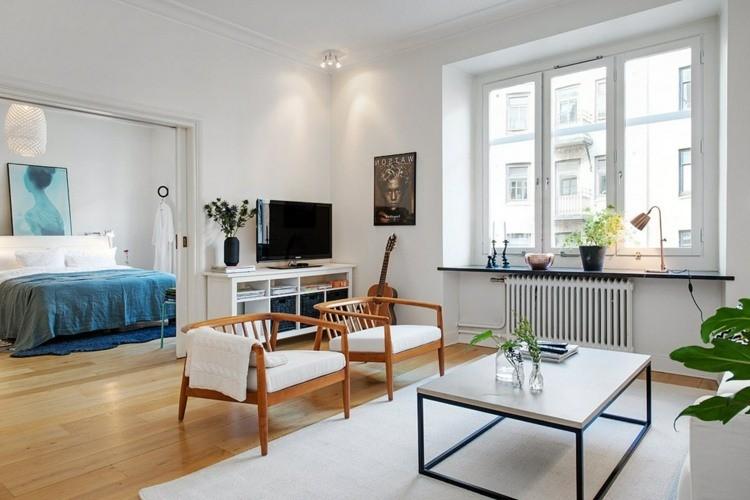 déco salon scandinave chaises bois