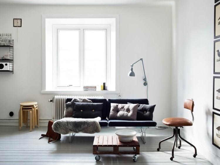 déco salon scandinave canape moderne