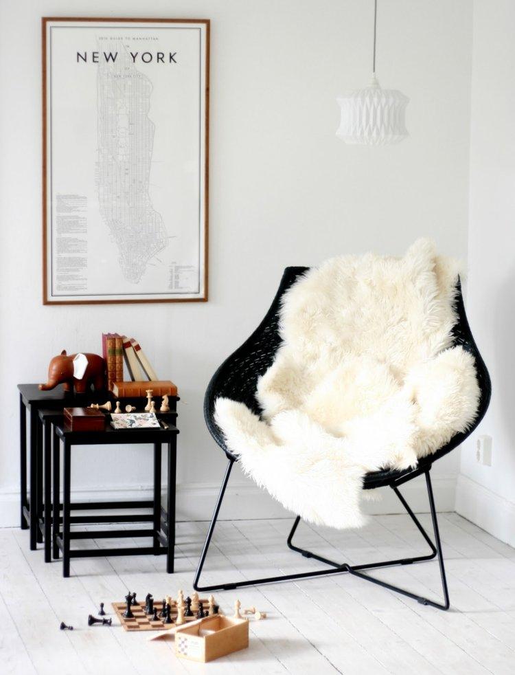 déco salon scandinave fauteuil design