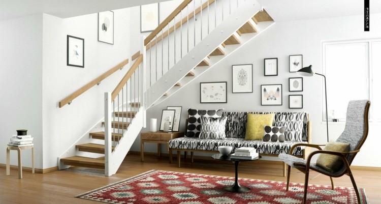 déco salon scandinave fauteuil moderne