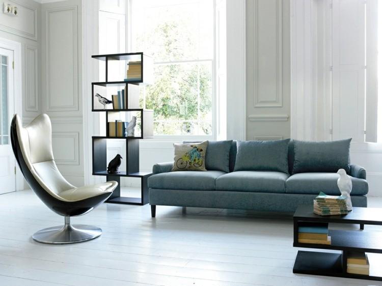 déco salon scandinave fauteuil original