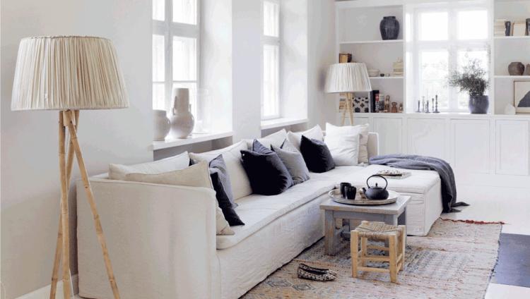 déco scandinave salon moderne
