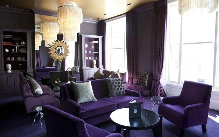 couleur violet décoration intérieur