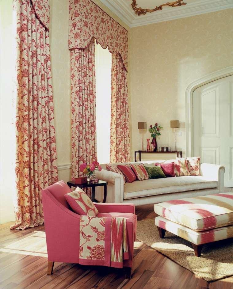 décoration intérieur salon idée rideaux féminins