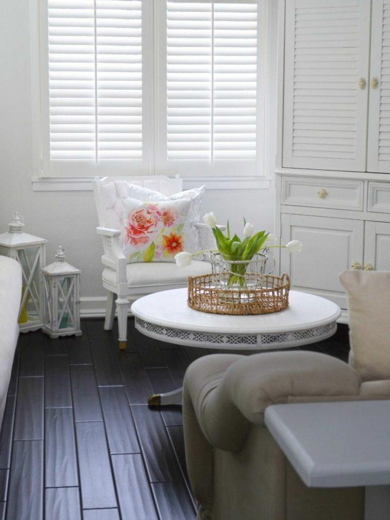 meubles déco salon blanc