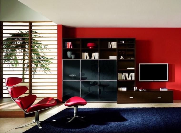 palette de couleur image salons en rouge