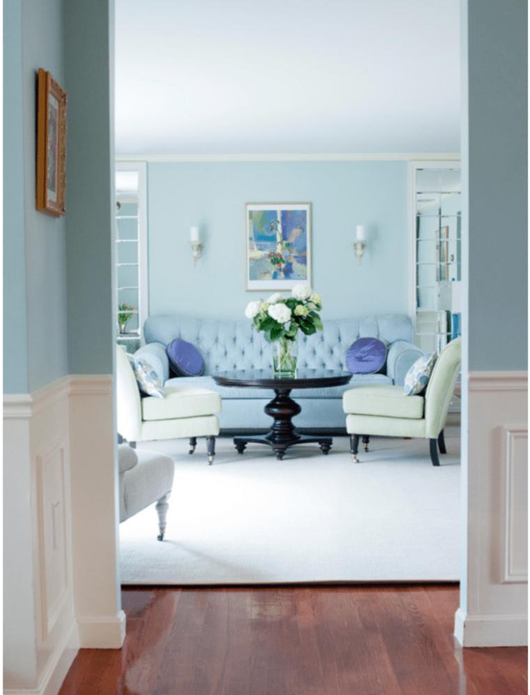murs salon peinture