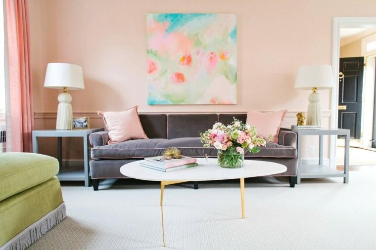 Repeindre salon : idées de couleurs pastel