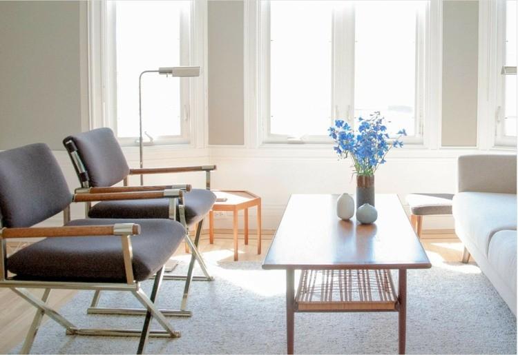 salon scandinaves meubles modernes bois