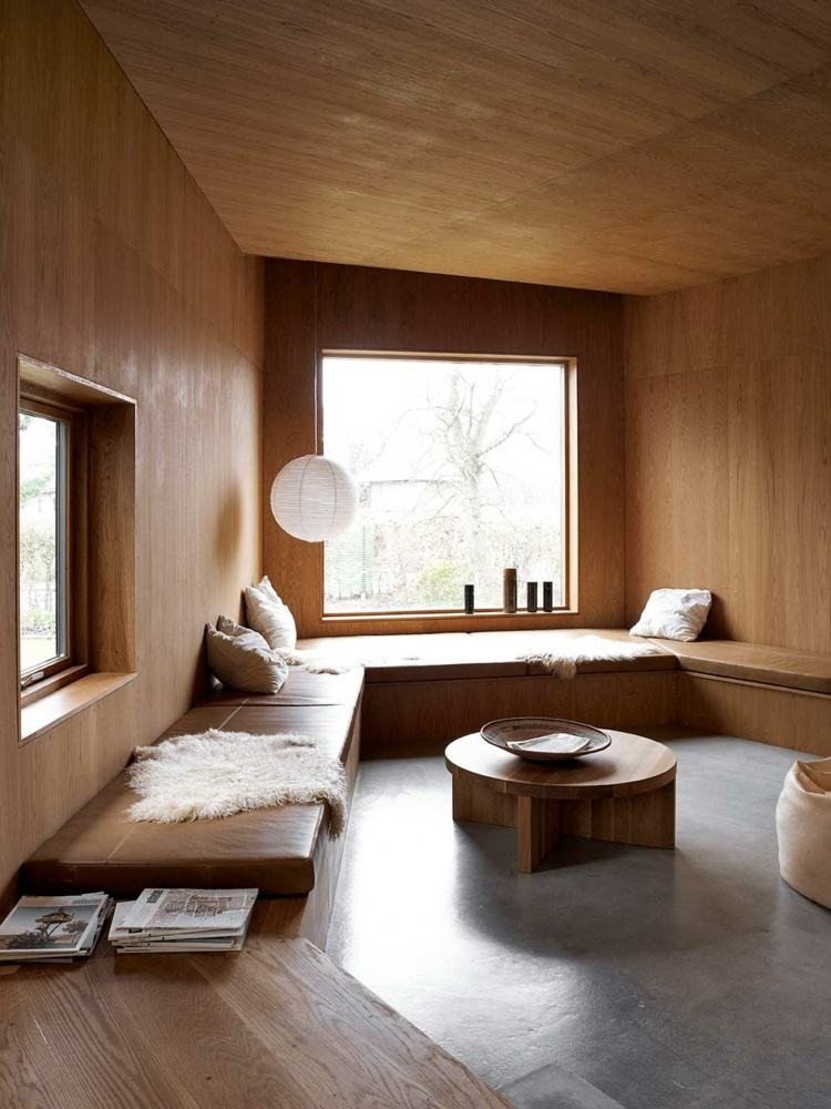 decoration salon moderne bois