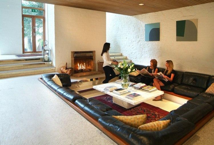 salle de séjour design canape cuir