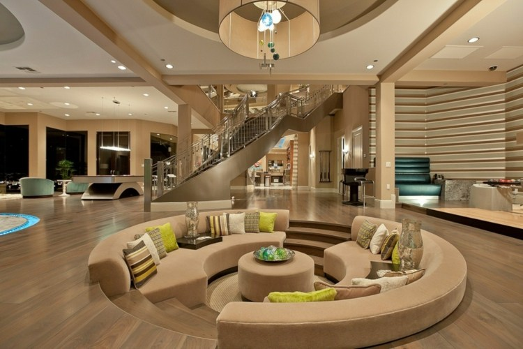salle de séjour design canape rond