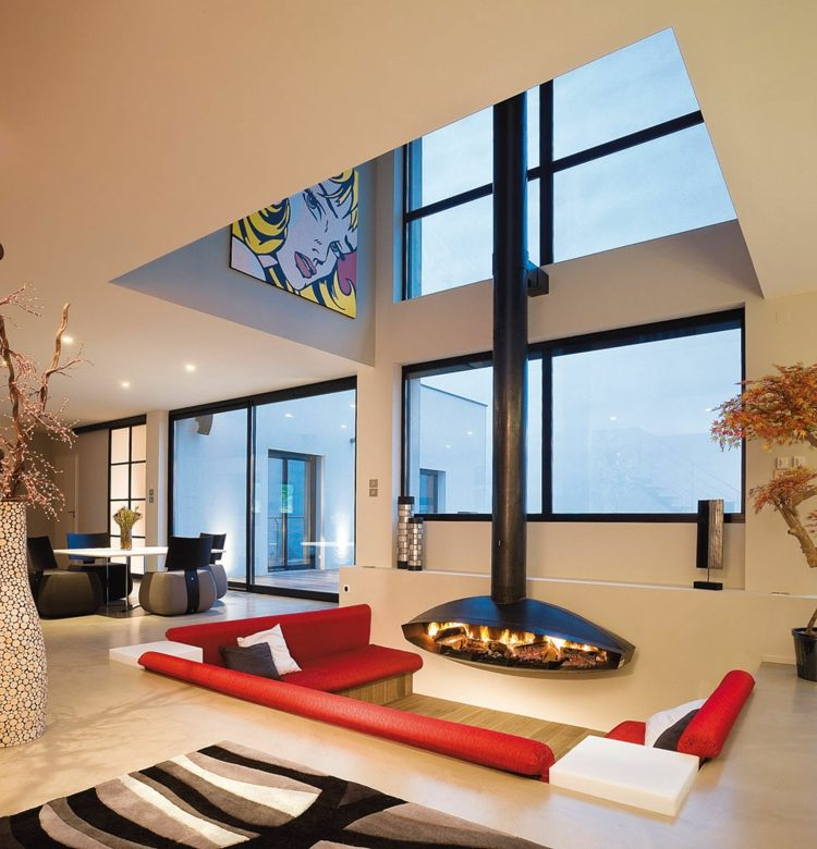 salle de séjour design contemporain