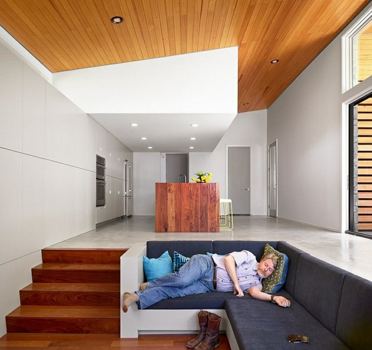 salle de séjour design ouverte elegante