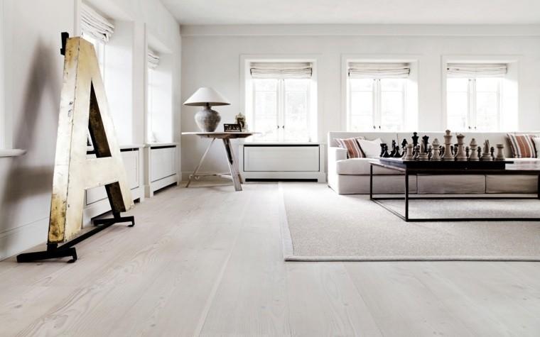peinture blanc salon déco scandinave
