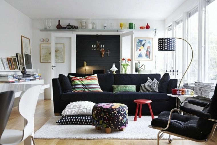 salon déco scandinave canapé design