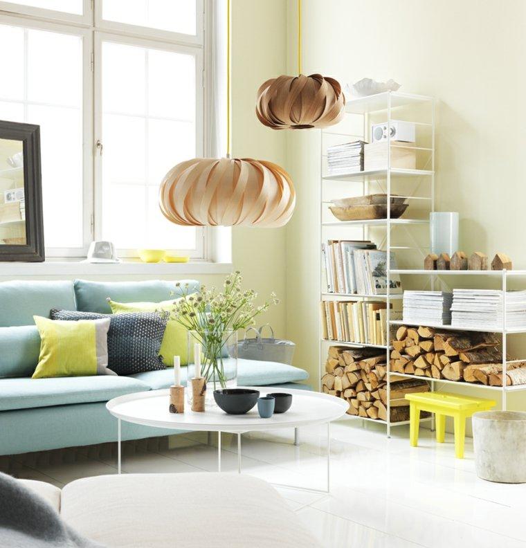 salons scandinaves decoration lumineuse