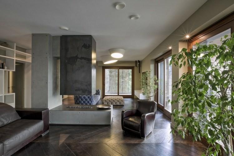 cheminee salon ultra moderne