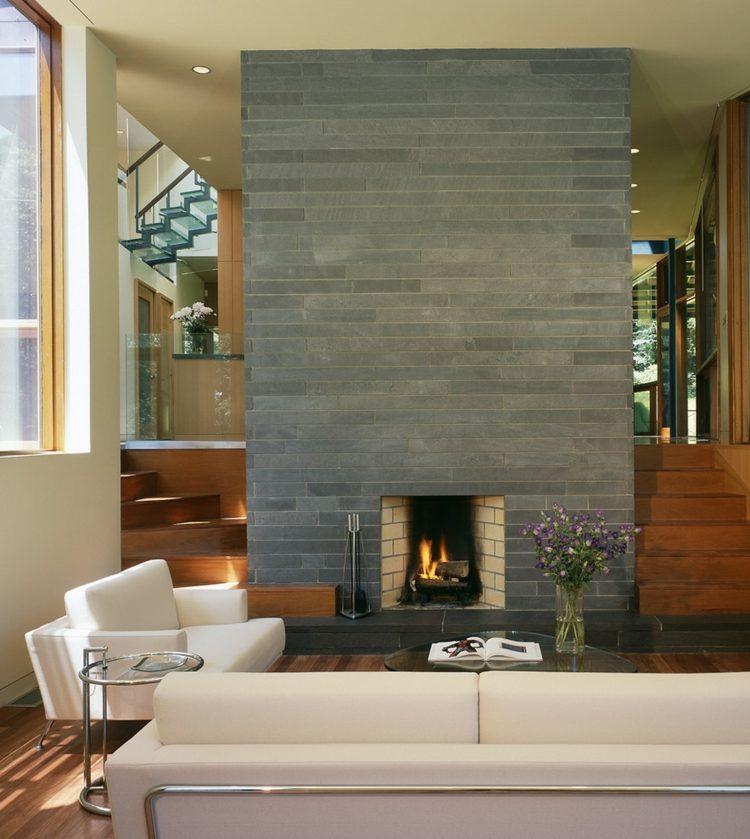 deco cheminee salon moderne