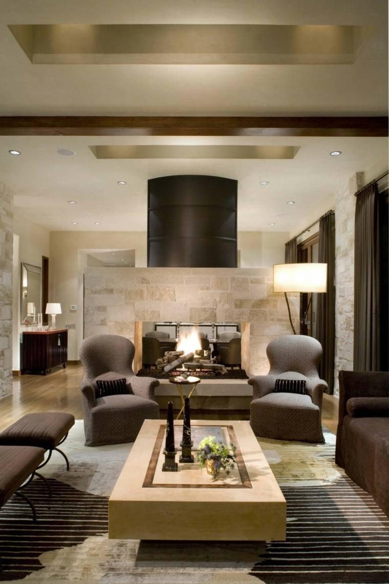 decoration salles de sejour meuble contemporain