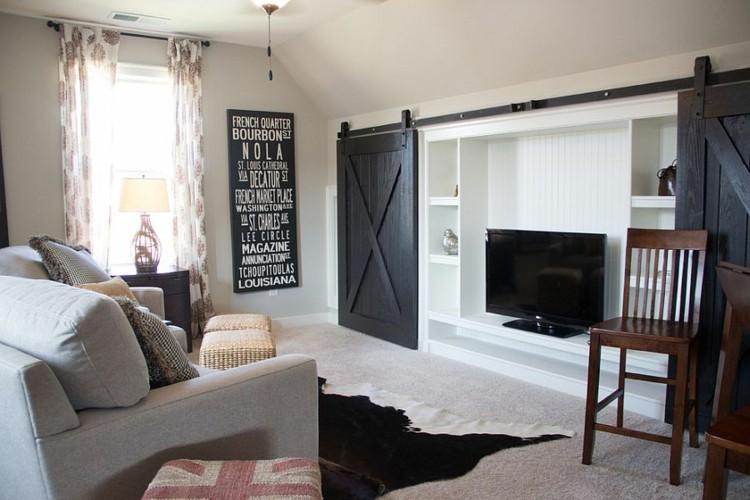 decoration salon moderne noir blanc
