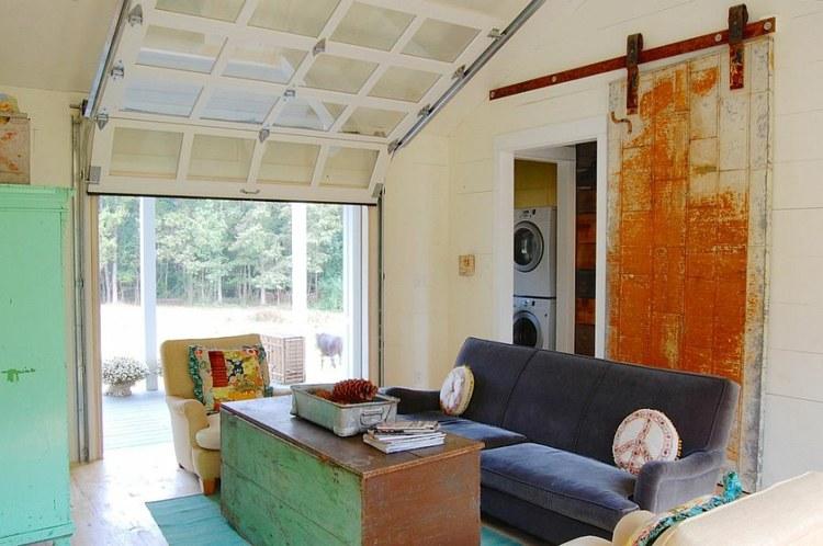 decoration salon porte coulissante design