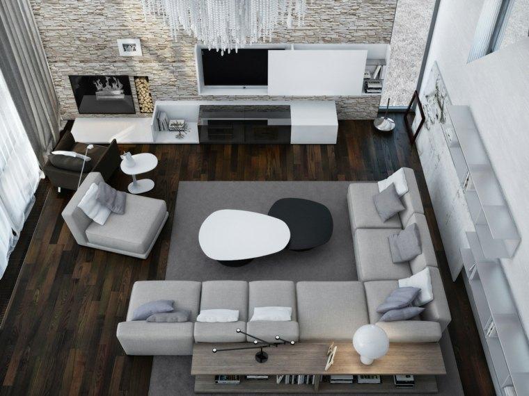 idees decoration salons contemporains