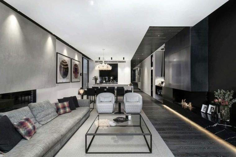 deco interieur moderne salons contemporains