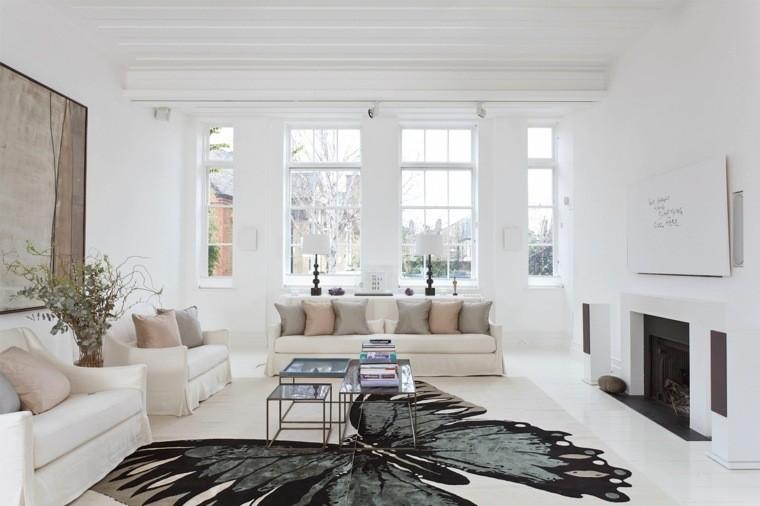 intérieur moderne tapis de sol papillon canapé coussin fauteuil design déco mur cadre