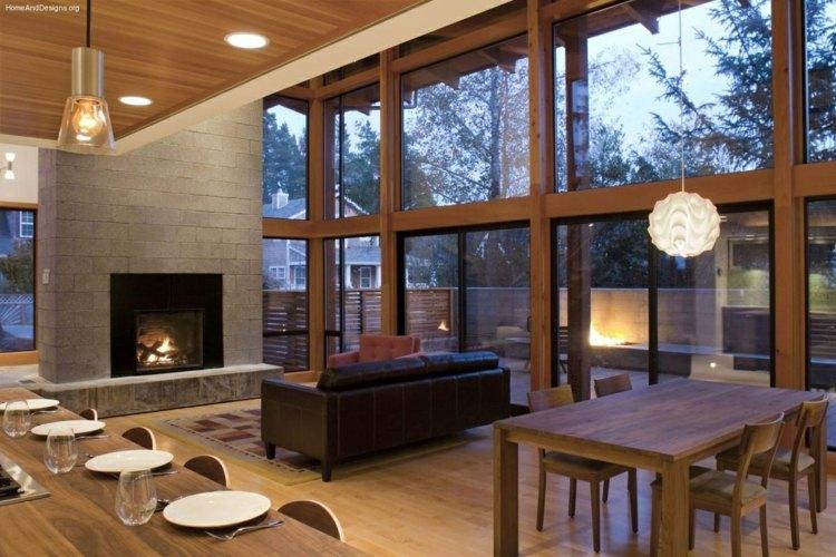 salon cheminee canape design