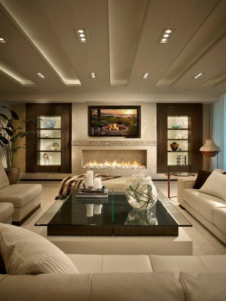 salon cheminée deco luxe