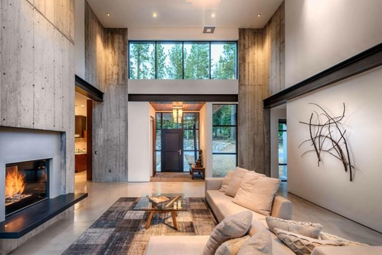 salon cheminée decoration contemporaine