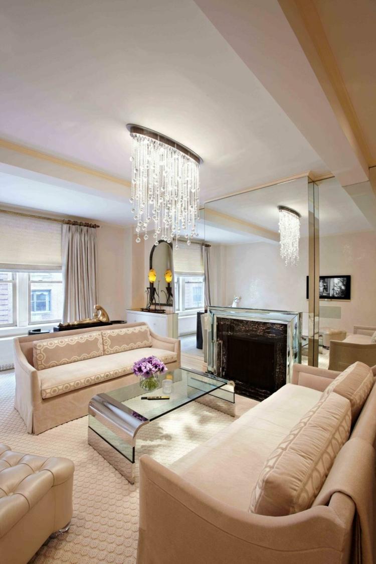 salon cheminée design luxe