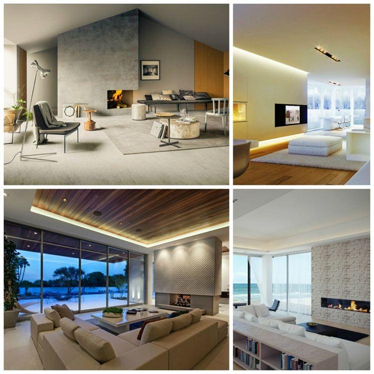 Salon cheminée design en 75 exemples inspirants