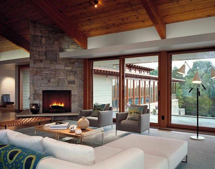 salon cheminee pierre naturelle