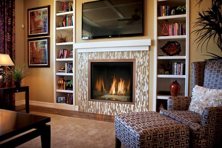 salon cheminée tele moderne