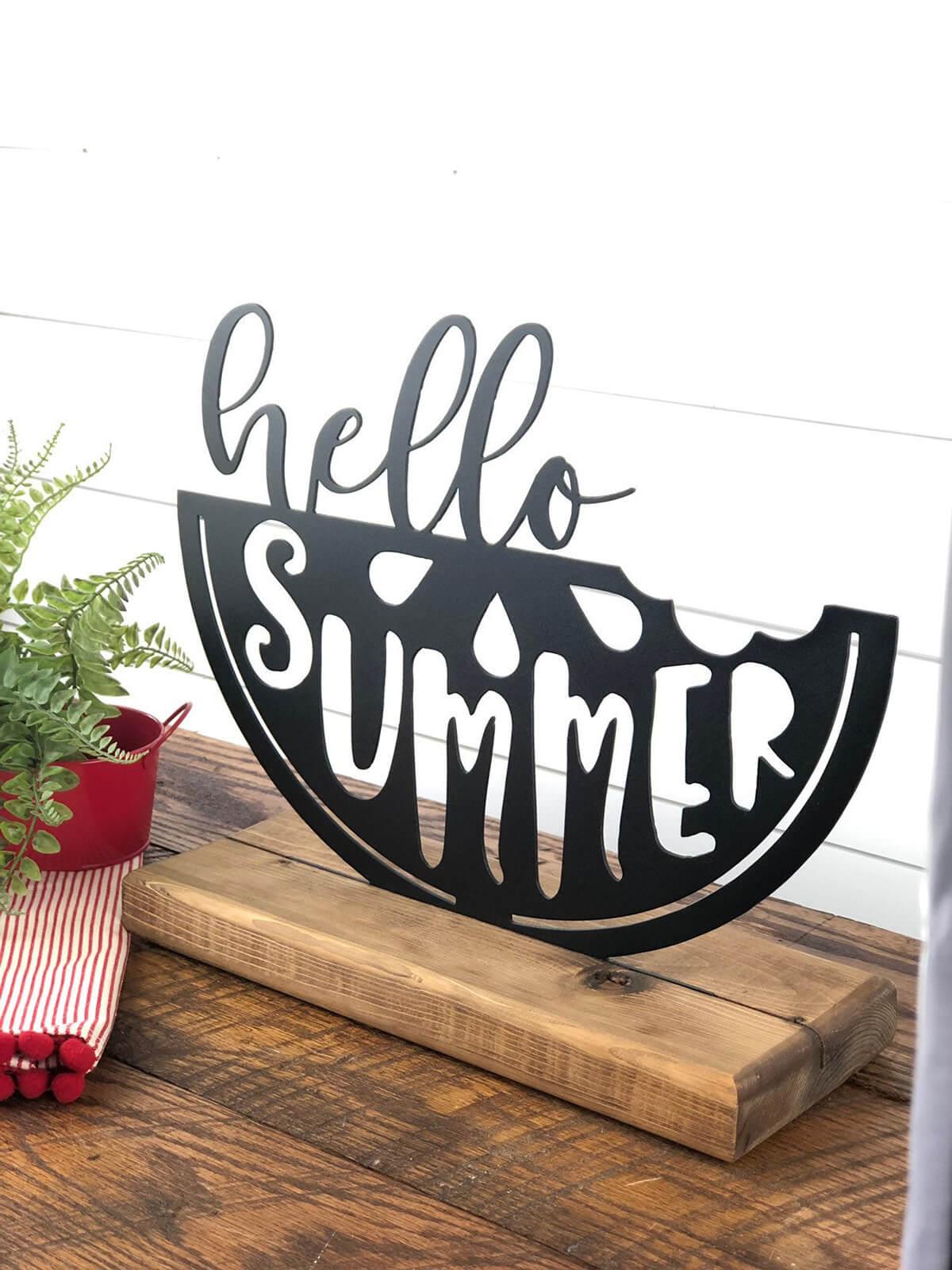 Garde étagère Hello Summer