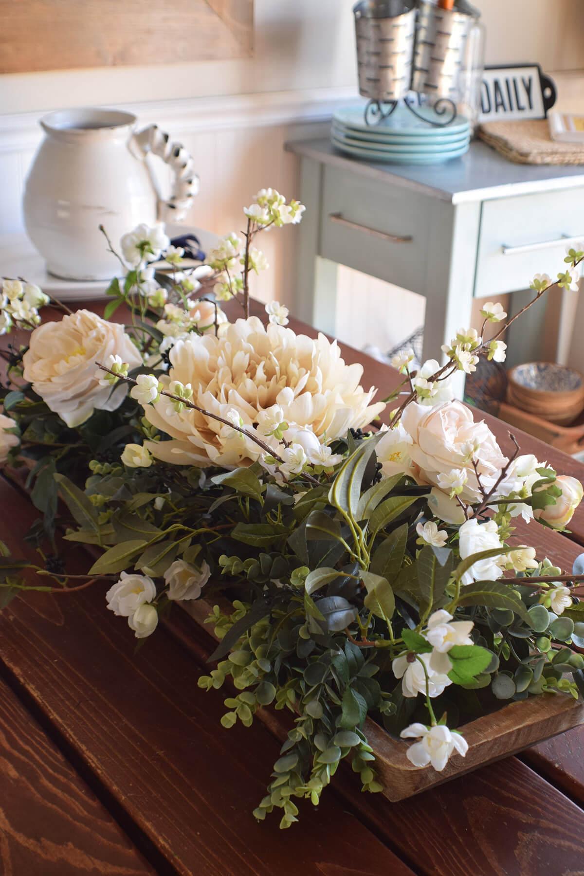Meilleur centre de table floral de décoration rustique